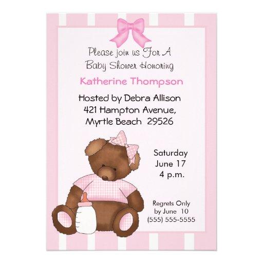 teddy bear baby shower invitation 5 x 7 invitation card zazzle
