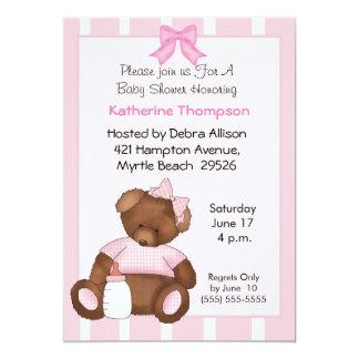 "Teddy Bear Baby Shower Invitation 5"" X 7"" Invitation Card"
