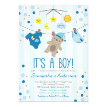 Teddy bear baby shower invitations announcements zazzle filmwisefo Choice Image