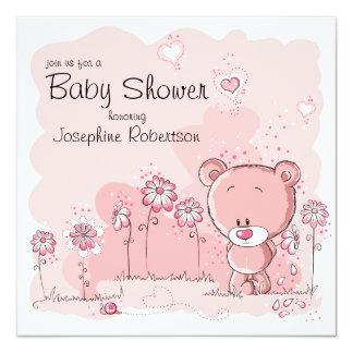 Teddy Bear Baby Shower Invitation - Pink
