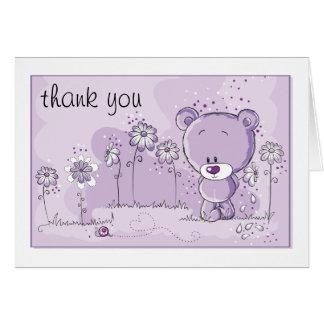 Teddy Bear Baby Shower Invitation - Purple