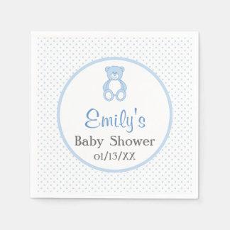 Teddy Bear Baby Shower Paper Napkins Standard Cocktail Napkin