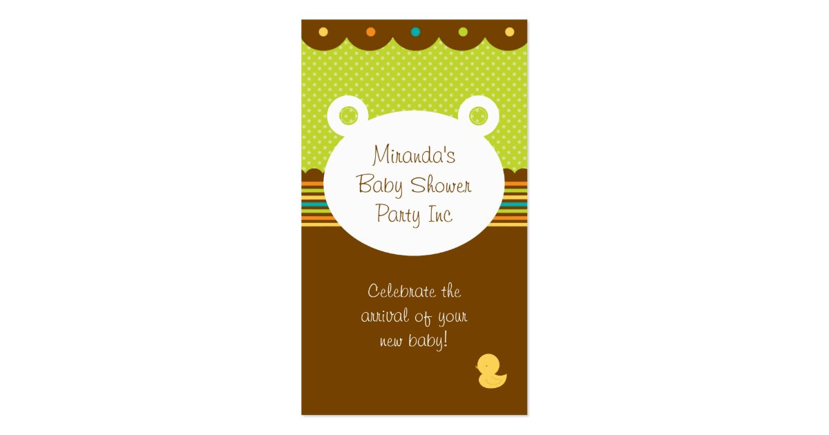 teddy bear baby shower party planner business card zazzle
