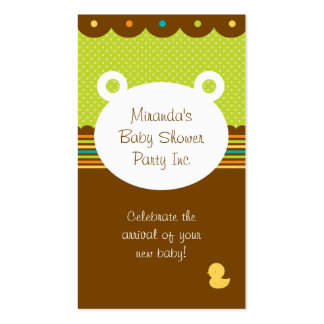Teddy Bear Baby Shower Party Planner Double-Sided Standard Business Cards (Pack Of 100)