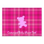 Teddy Bear - Baby Shower Pink Invitation
