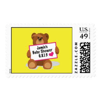 Teddy Bear- Baby Shower Stamp
