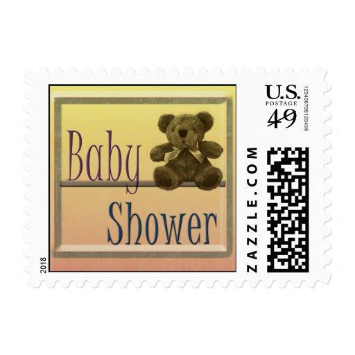 Teddy Bear Baby Shower Stamp