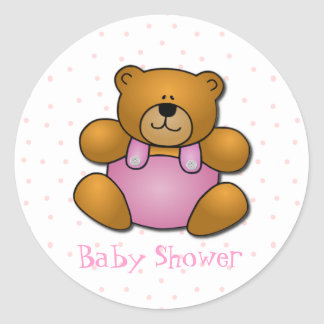 Teddy Bear Baby Shower Stickers