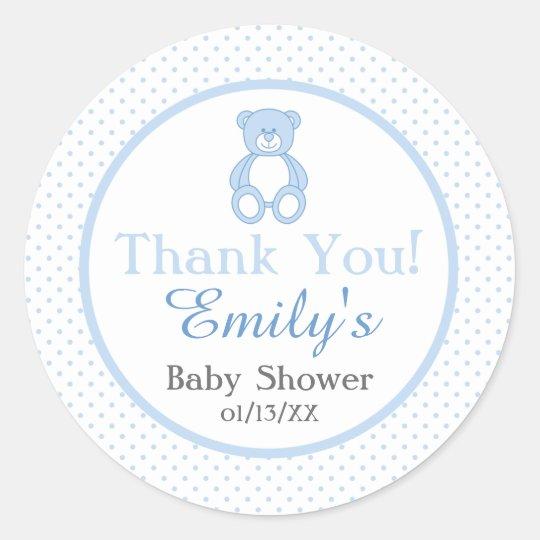 Teddy Bear Baby Shower Stickers Boy Zazzle Com