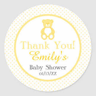 Teddy Bear Baby Shower Stickers - Gender Neutral