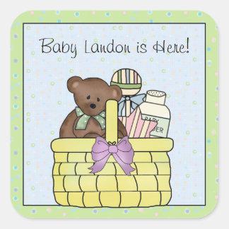 Teddy Bear Baby Stickers