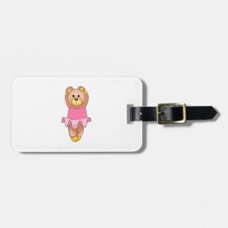 TEDDY BEAR BALLERINA BAG TAG