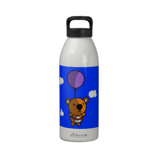 Teddy Bear Balloon Reusable Water Bottle