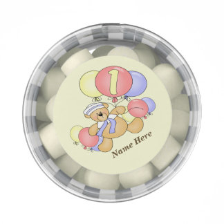 Teddy Bear Balloons 1st Birthday Party Chewing Gum