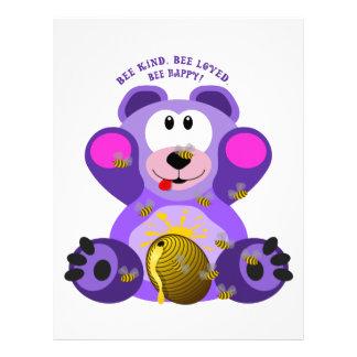 Teddy Bear Bee Kind Bee Loved Bee Happy Letterhead