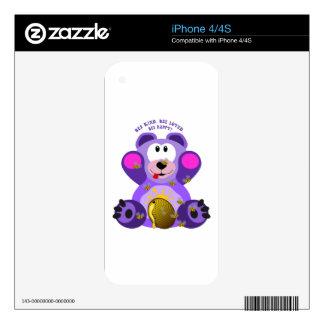 Teddy Bear Bee Kind Bee Loved Bee Happy Skin For iPhone 4