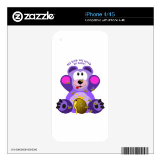 Teddy Bear Bee Kind Bee Loved Bee Happy Skins For iPhone 4S