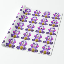 Teddy Bear Bee Kind Bee Loved Bee Happy Wrapping Paper
