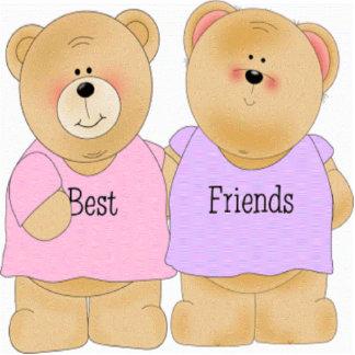 Teddy Bear Best Friends Sculpture