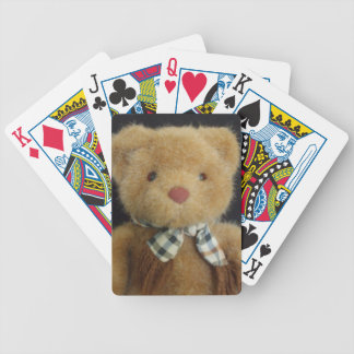 Teddy Bear Bicycle Playing Cards