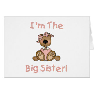 Teddy Bear Big Sister Tshirts and Gifts Greeting Cards