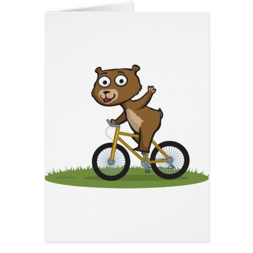 Teddy Bear Biker Card
