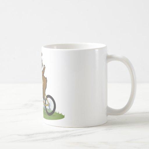 Teddy Bear Biker Classic White Coffee Mug
