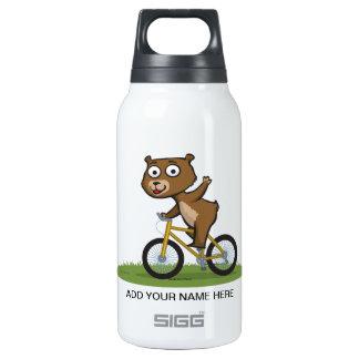 Teddy Bear Biker Insulated Water Bottle