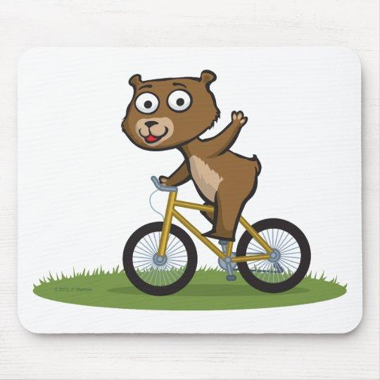Teddy Bear Biker Mouse Pad