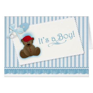 Teddy Bear Birth Announcement Cards
