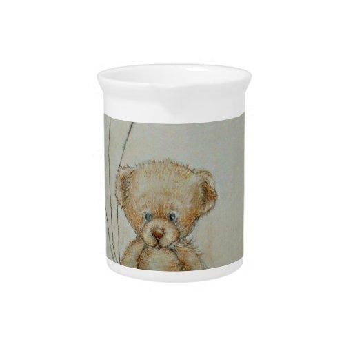 teddy bear birthday beverage pitcher
