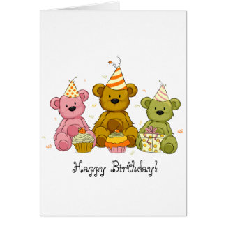 Teddy Bear Birthday Greeting Card