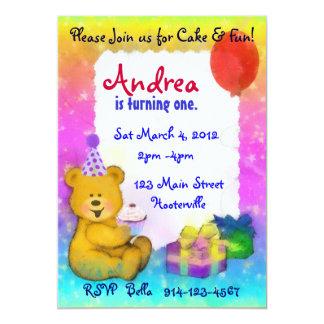 Teddy Bear Birthday Invitation
