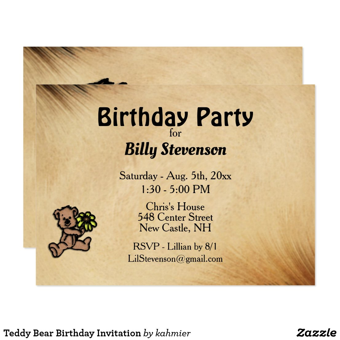 Teddy Bear Birthday Invitation