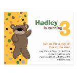 Teddy Bear • Birthday Invitation Post Card