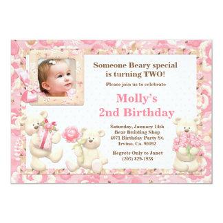 "Teddy Bear Birthday Party Invitation 5"" X 7"" Invitation Card"