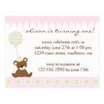 Teddy Bear Birthday Party Invitation Post Cards