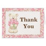 Teddy Bear Birthday Party Thank You Card