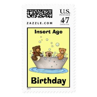 Teddy Bear Birthday Postage Stamps