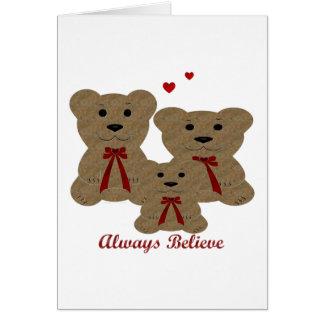 *Teddy Bear Blessing ~ Always Believe Card