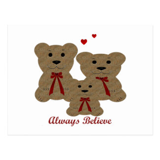 *Teddy Bear Blessing ~ Always Believe Postcard
