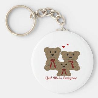 Teddy Bear Blessings ~ God Bless Everyone Keychain