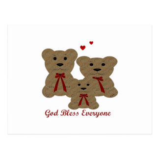 Teddy Bear Blessings ~ God Bless Everyone Postcard