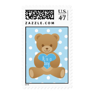 Teddy bear blue Stamp