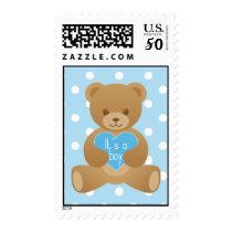 Teddy bear blue Stamp