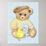 Teddy Bear Boy Nursery Fun Posters