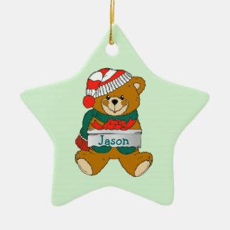 Teddy Bear Boys Christmas Ornament