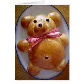 Teddy Bear Bread Recipe Greeting Card