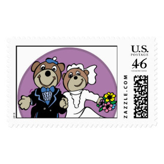 Teddy Bear Bride and Groom Stamps