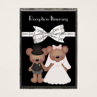 Teddy Bear Bride & Groom Wedding Business Card